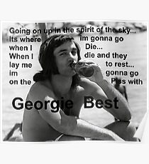 George Best- Spirit in the Sky Poster