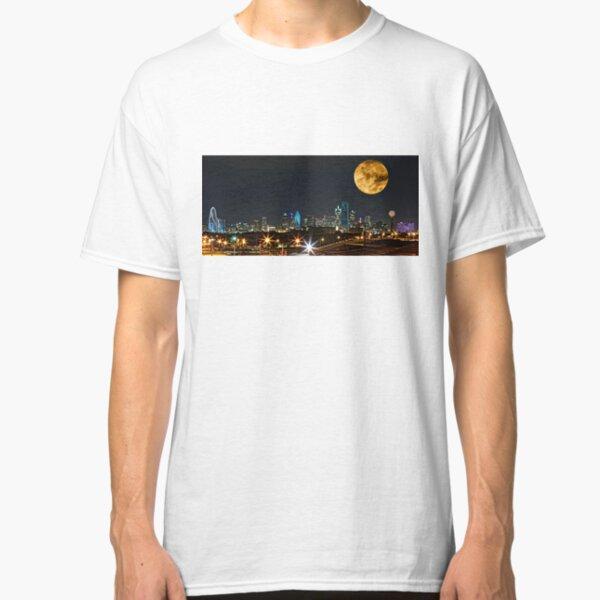 Dallas Skyline Supermoon 2015 Classic T-Shirt