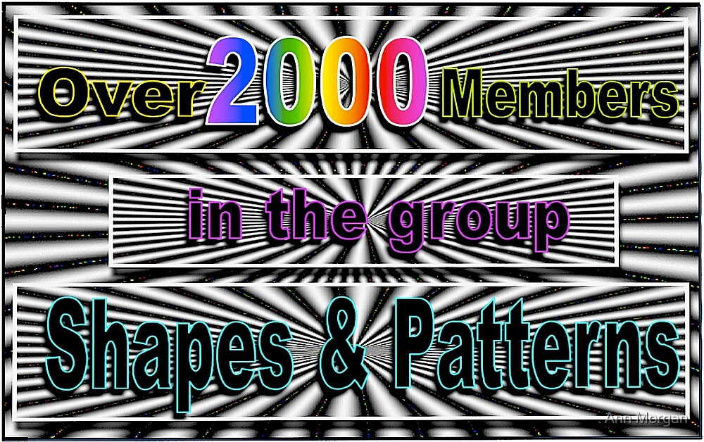 2000 MEMBERS IN THE GROUP SHAPES & PATTERNS by Ann Morgan