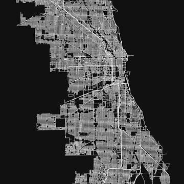 Chicago, Illinois, USA Street Network Map Graphic by ramiro