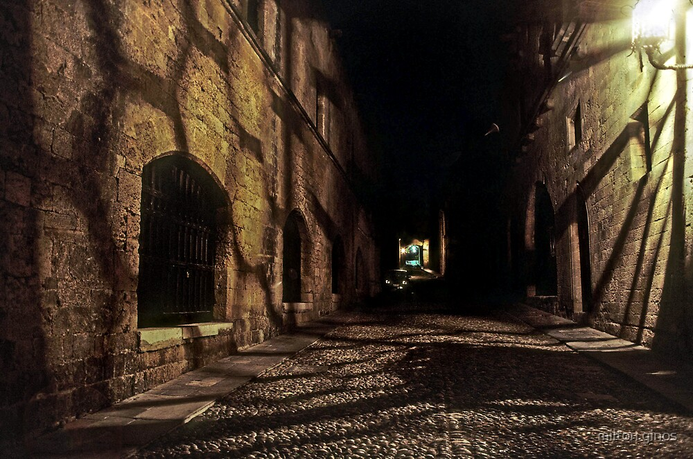Street of the Knights--Rhodes Greece by Milton Ginos