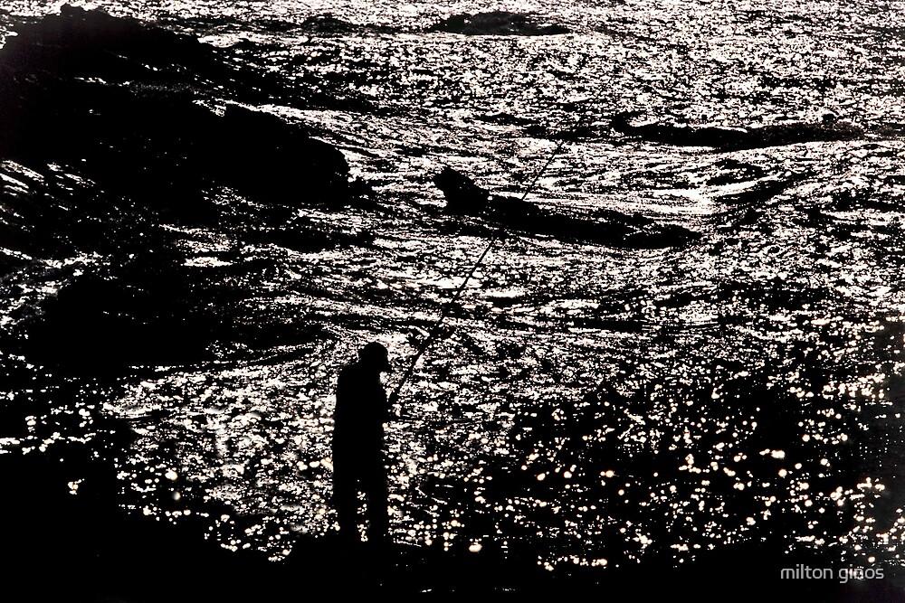 Silo fisherman--Rhodes Greece by Milton Ginos
