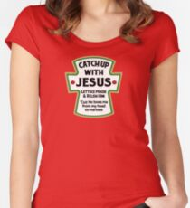 Catch up with JESUS - Jesus T Shirts - I love Jesus T Shirt Women's Fitted Scoop T-Shirt