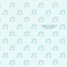«Patrón de gato de fusión de hielo Kawaii» de EuGeniaArt