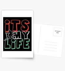 Skiing Is My Life T-Shirt Postcards