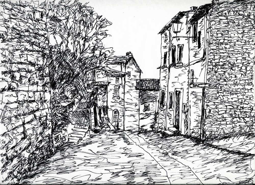 Cortona Side Street by Randy Sprout