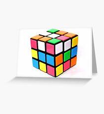 Rubix Cube. Greeting Card