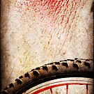 Bike wheel :: Red spray by Silvia Ganora
