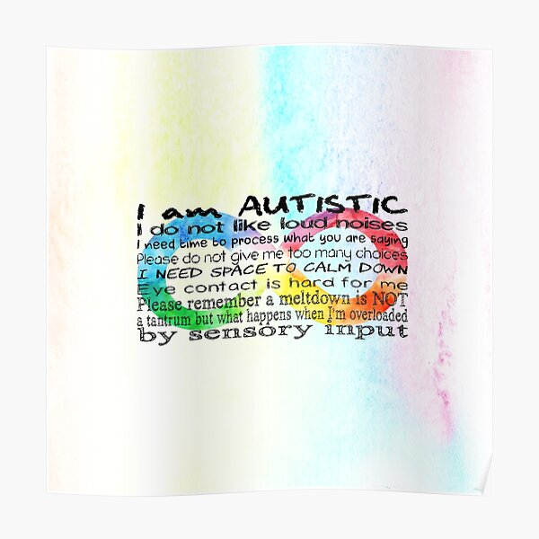 I am Autistic Poster