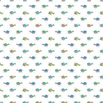 Cartoon Kids Style Birds Pattern by DFLCreative