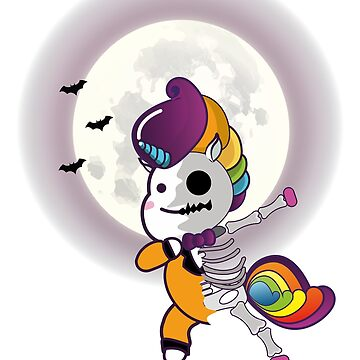Dubbing Unicorn Zombie Skeleton Halloween Design by Whynot123