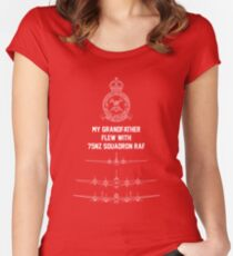My Grandfather flew with 75NZ Squadron RAF Women's Fitted Scoop T-Shirt