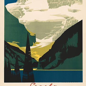 Lovely Lake Louise vintage travel ad by aapshop