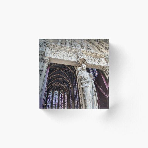 main entrance of the Sainte-Chapelle church in Paris, France Acrylic Block