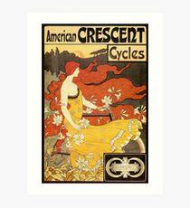Vintage American Art Nouveau Fahrräder ad Kunstdruck