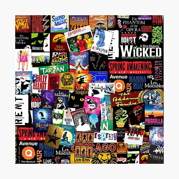 Musicals Collage II Photographic Print