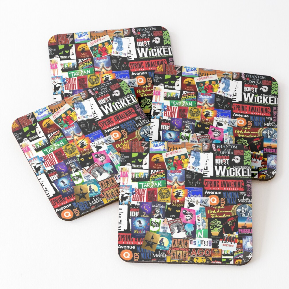 Musicals Collage II Coasters (Set of 4)