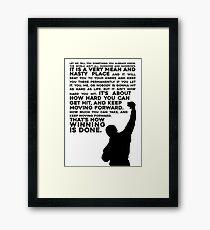 Rocky Motivation Framed Print