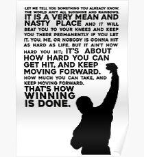 Felsige Motivation Poster