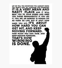Lámina fotográfica Rocky Motivation
