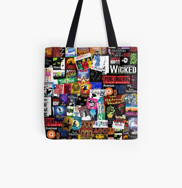 Musicals Collage II All Over Print Tote Bag