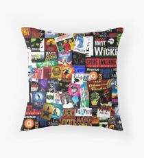 Musicals Collage II Throw Pillow