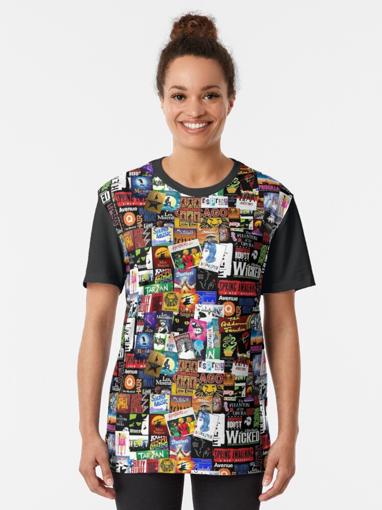 Alternate view of Musicals Collage II Graphic T-Shirt