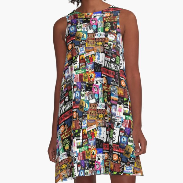 Musicals Collage II A-Line Dress
