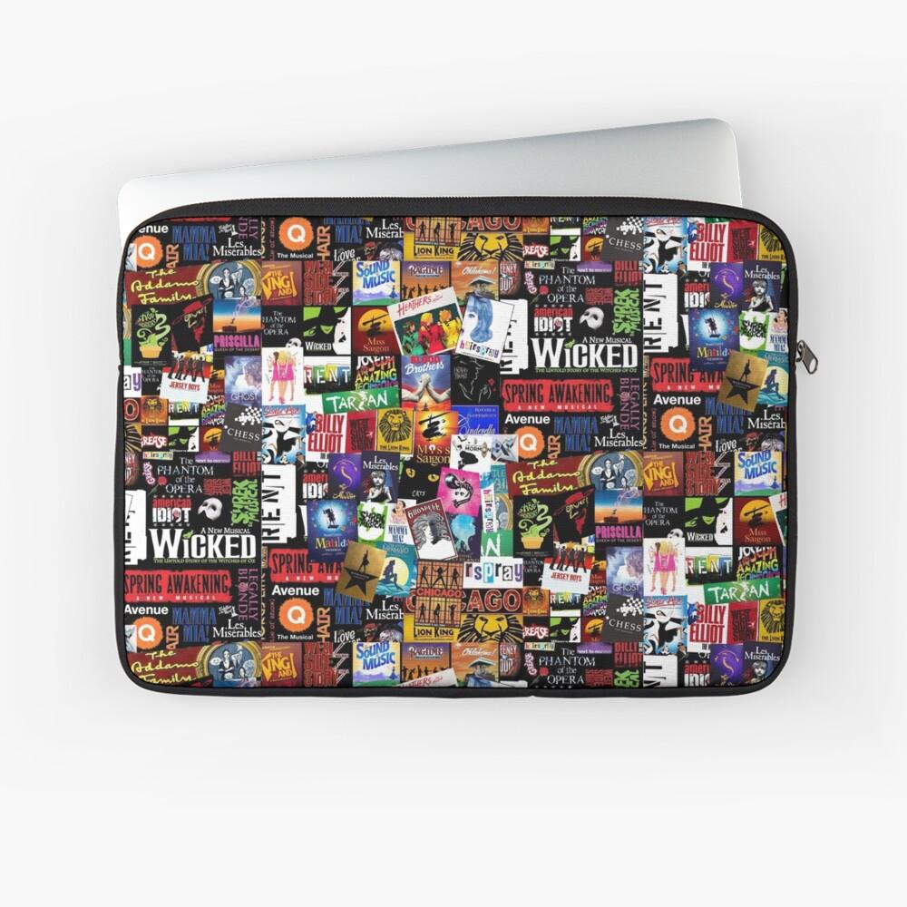 Musicals Collage II Laptop Sleeve