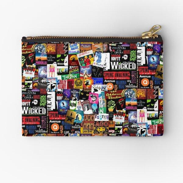 Musicals Collage II Zipper Pouch