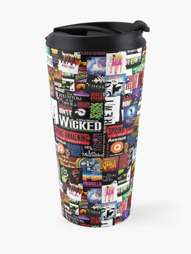 Alternate view of Musicals Collage II Travel Mug