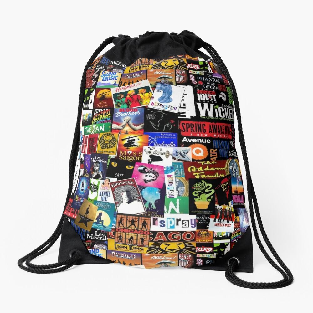 Musicals Collage II Drawstring Bag