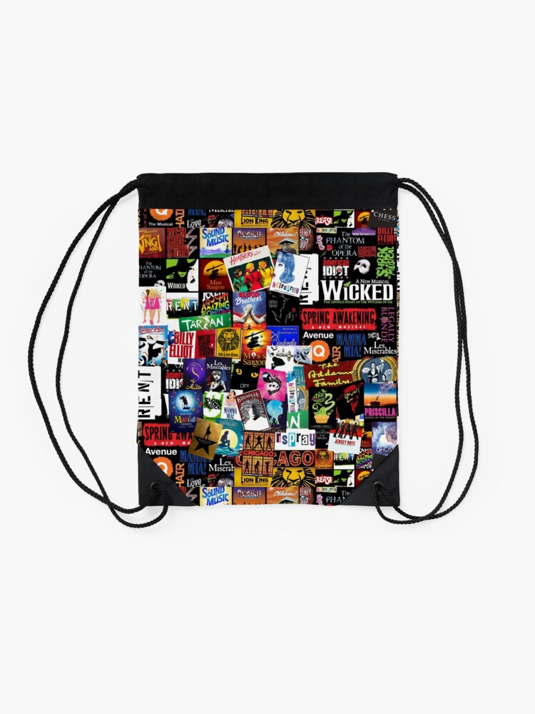 Alternate view of Musicals Collage II Drawstring Bag