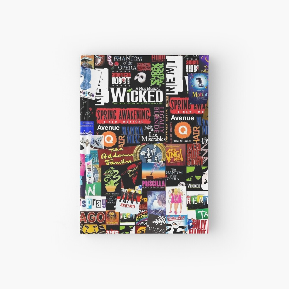 Musicals Collage II Hardcover Journal