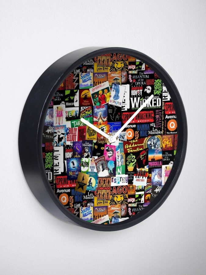 Alternate view of Musicals Collage II Clock
