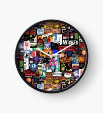 Musicals Collage II Clock