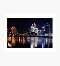 Downtown Cincinnati Art Print