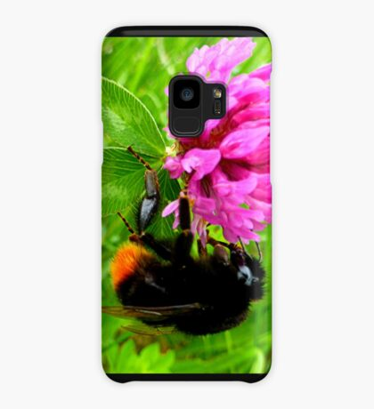 Bumblebee on red clover Case/Skin for Samsung Galaxy