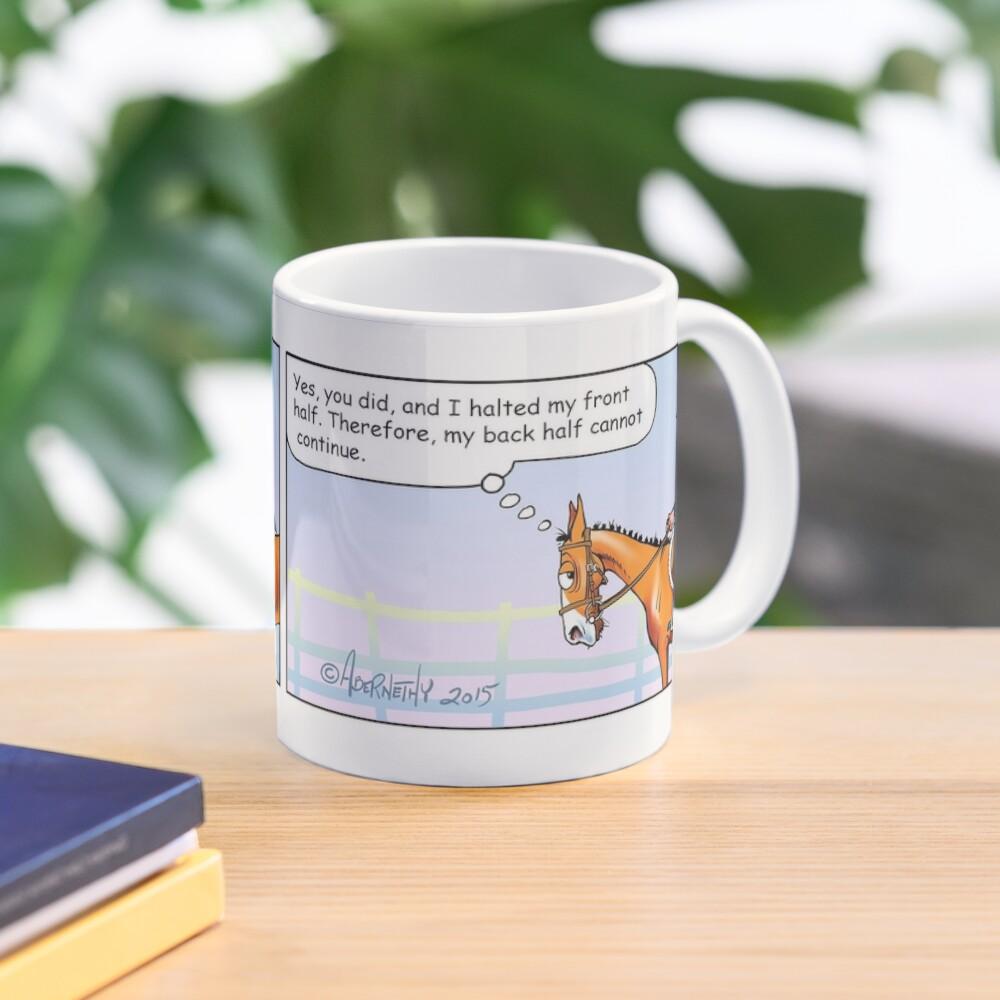 "Fergus the Horse: ""Half-Halt"" Comic Strip Mug"