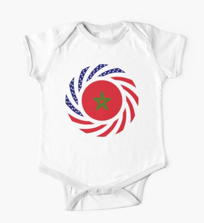 Moroccan American Multinational Patriot Flag Series Kids Clothes