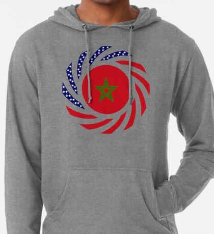 Moroccan American Multinational Patriot Flag Series Lightweight Hoodie