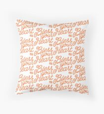 Bless Your Heart - Peach Throw Pillow