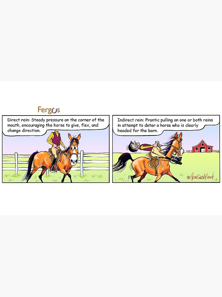 """Fergus the Horse: """"Direct Rein"""" Comic Strip by JeanAbernethy"""