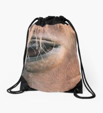 Encounter of the equine kind Drawstring Bag