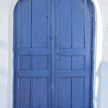 Blue door in Santorini by ibphotos