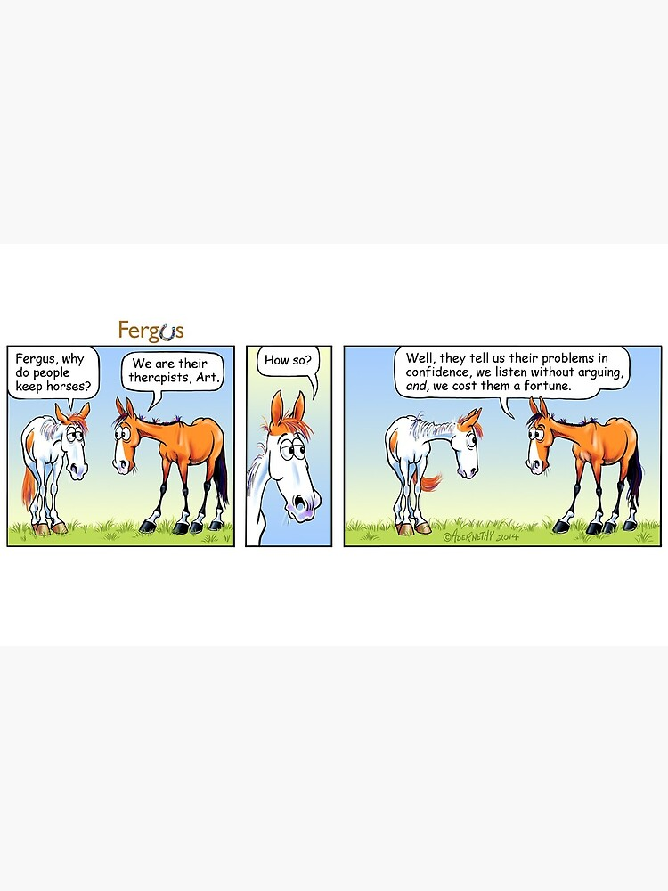 """Fergus the Horse: """"Therapist"""" Comic Strip by JeanAbernethy"""