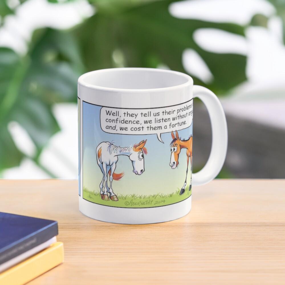 "Fergus the Horse: ""Therapist"" Comic Strip Mug"
