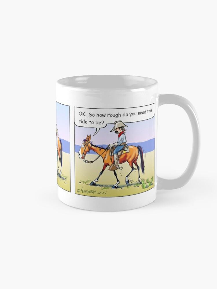 "Alternate view of Fergus the Horse: ""Rough Rider"" Comic Strip Mug"