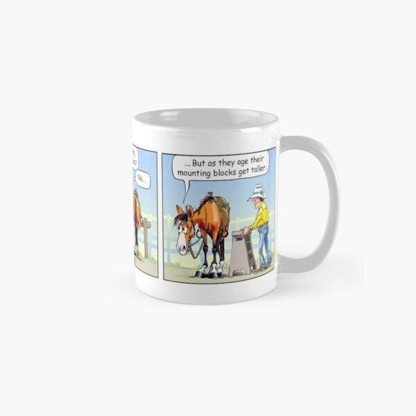 "Fergus the Horse: ""Aging Mounting Block"" Comic Strip Classic Mug"