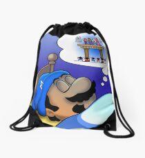 Dreaming Mario Drawstring Bag